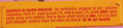Bouillon Kub dégraissé Volaille - Ingredients