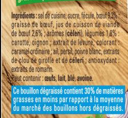 Bouillon Kub Pot-au-feu Dégraissé - Ingrediënten - fr
