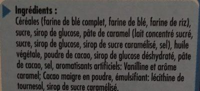 Céréales Lion caramel et chocolat - المكونات - fr