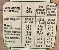 Original cereales integrales - Nutrition facts
