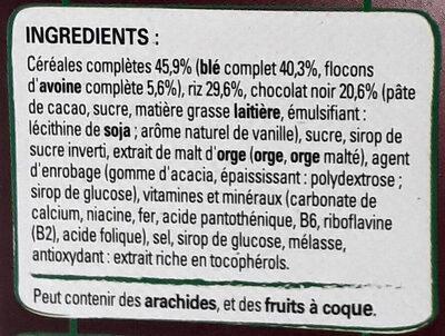 Fitness Chocolat Noir - Ingrediënten - fr