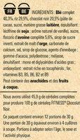 NESTLE FITNESS Chocolat Noir Céréales - Ingrédients - fr