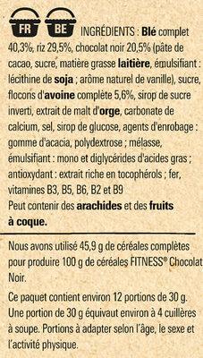NESTLE FITNESS Chocolat Noir Céréales - Ingrediënten - fr