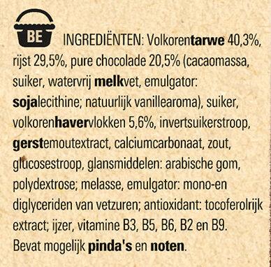 NESTLE FITNESS Chocolat Noir Céréales - Ingrediënten - nl