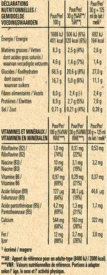 NESTLE FITNESS Chocolat Noir Céréales - Informations nutritionnelles - fr