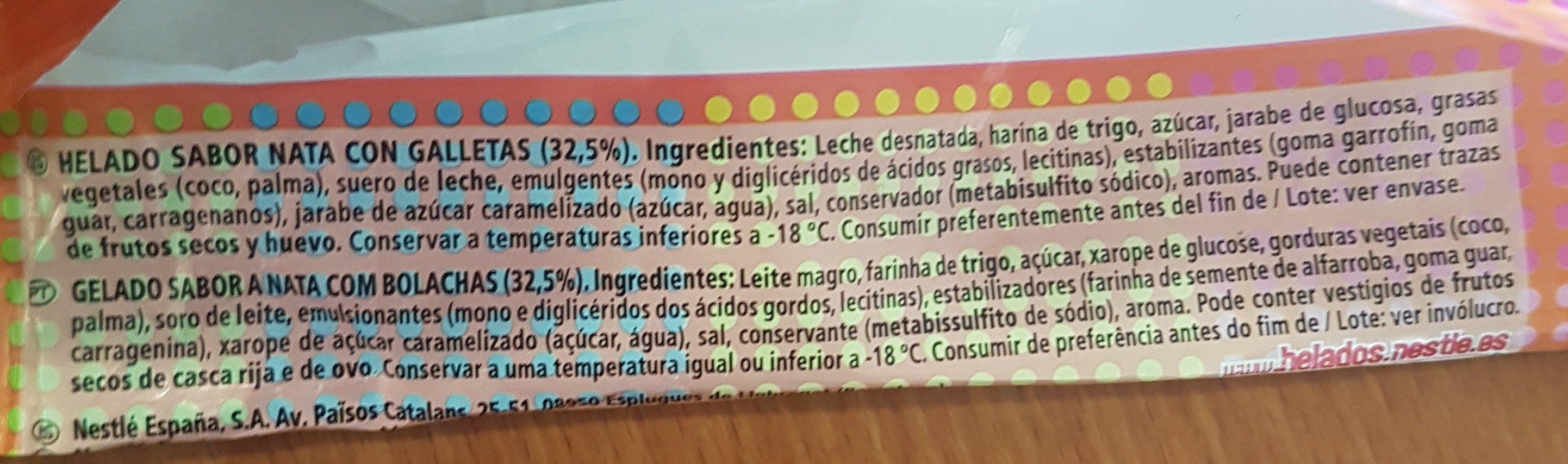 Sandwich Nata - Ingredients - en