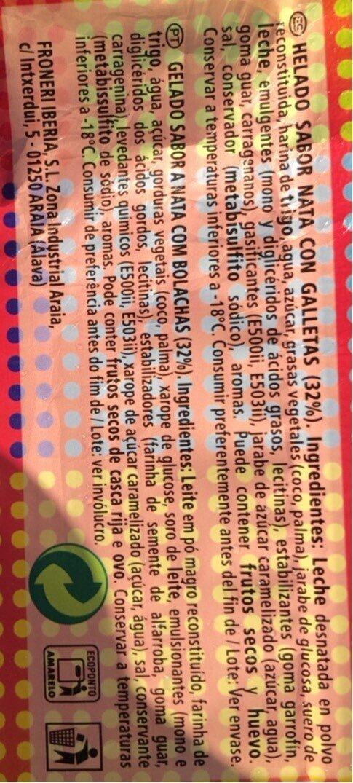 Sandwich Nata - Informació nutricional - en