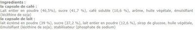 Cappuccino Ice - Ingrediënten - fr
