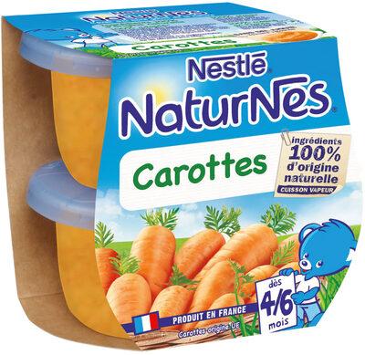NESTLE NATURNES Petits Pots Bébé Carottes -2x130g -Dès 4/6 mois - Prodotto - fr