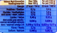 NaturNes Carottes - Informations nutritionnelles - fr