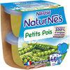 NESTLE NATURNES Petits Pots Bébé Petits Pois -2x130g -Dès 4/6 mois - Prodotto