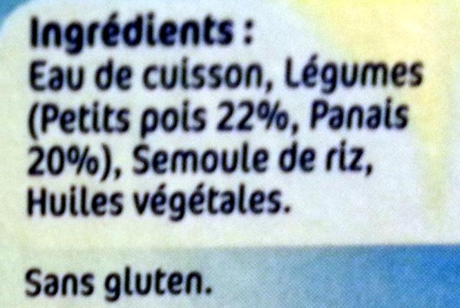 NESTLE NATURNES Petits Pots Bébé Petits Pois -2x130g -Dès 4/6 mois - Ingredienti - fr