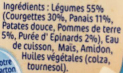 NaturNes Courgettes - Ingrédients - fr