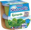 NESTLE NATURNES Petits Pots Bébé Epinards -2x130g -Dès 4/6 mois - Prodotto