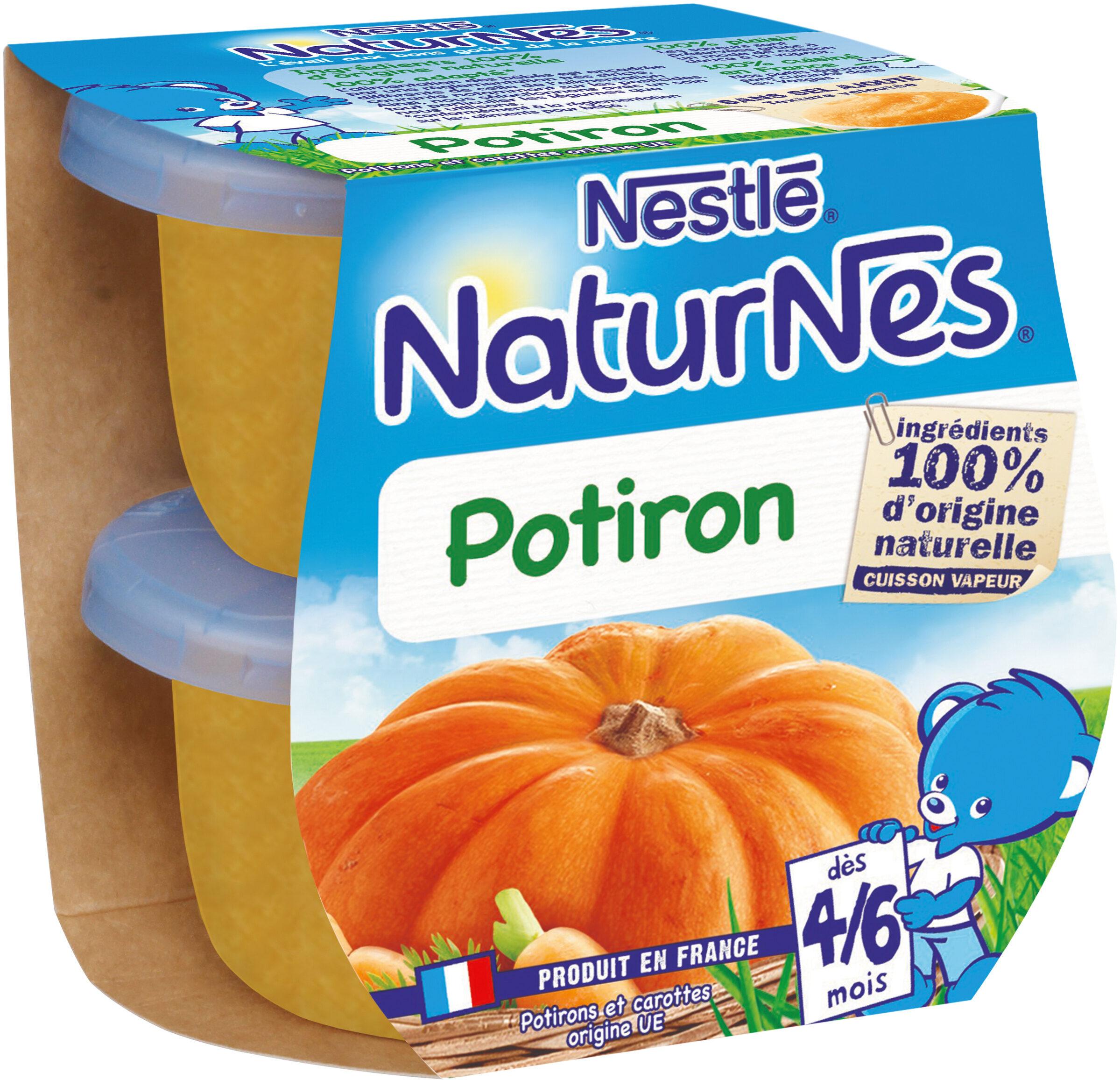 NESTLE NATURNES Petits Pots Bébé Potiron -2x130g -Dès 4/6 mois - Prodotto - fr