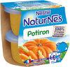 NESTLE NATURNES Petits Pots Bébé Potiron -2x130g -Dès 4/6 mois - Produit