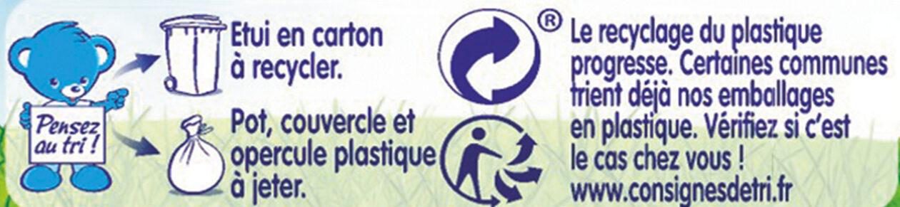 NESTLE NATURNES Petits Pots Bébé Potiron -2x130g -Dès 4/6 mois - Istruzioni per il riciclaggio e/o informazioni sull'imballaggio - fr