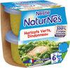 NESTLE NATURNES Petits Pots Bébé Haricots Verts Dindonneau -2x200g -Dès 6 mois - Prodotto