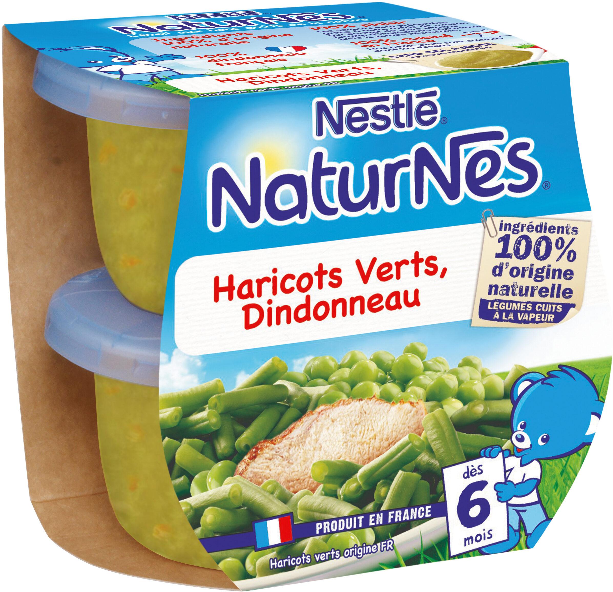 NESTLE NATURNES Petits Pots Bébé Haricots Verts Dindonneau -2x200g -Dès 6 mois - Prodotto - fr
