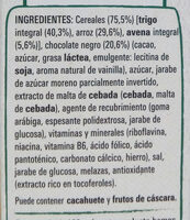 Fitness chocolate negro - Ingredients