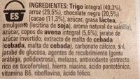 Fitness Chocolate Negro - Ingredientes - es
