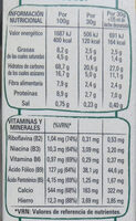 Fitness chocolate negro - Nutrition facts