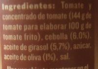 Tomate Frito Estilo Casero Solis - Ingredientes - fr