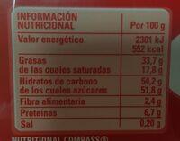 Bombones surtidos - Informations nutritionnelles - es