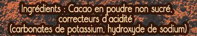 NESTLE DESSERT Cacao en Poudre boîte - Ingrédients - fr