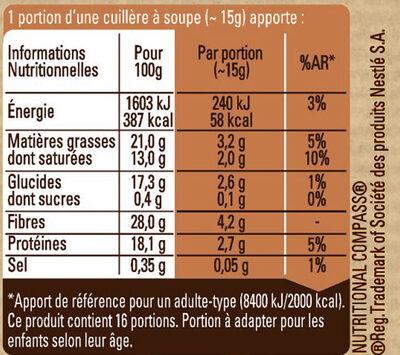 NESTLE DESSERT Cacao en Poudre boîte - Informazioni nutrizionali - fr