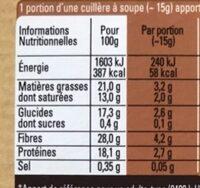 Cacao en poudre brut non sucré - Informations nutritionnelles - fr