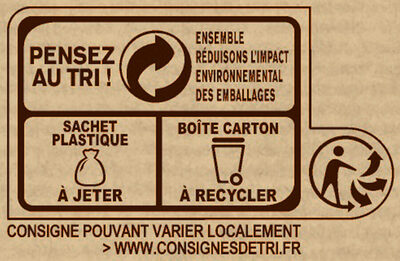 NESTLE DESSERT Cacao en Poudre boîte - Recycling instructions and/or packaging information - fr