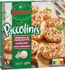 BUITONI PICCOLINIS mini-pizzas surgelées CREMOSA AL PROSCIUTTO - Lardons Crème 270g (9 pièces) - Product