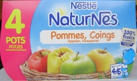 NaturNes Pommes, Coings (4 Pots) - Product - fr