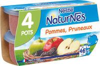 NESTLE NATURNES Compotes Bébé Pommes Pruneaux -4x130g -Dès 4/6 mois - Prodotto - fr