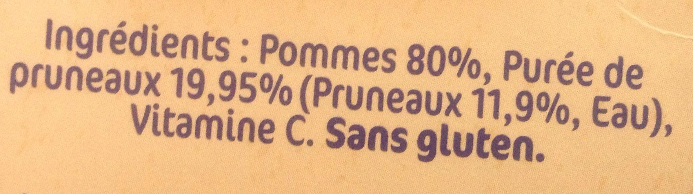 NESTLE NATURNES Compotes Bébé Pommes Pruneaux -4x130g -Dès 4/6 mois - Ingredienti - fr