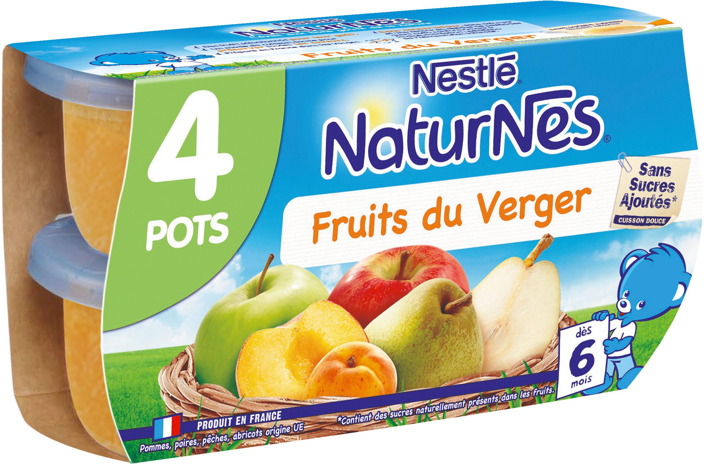 NESTLE NATURNES Compotes Bébé Fruits du Verger -4x130g -Dès 6 mois - Prodotto - fr