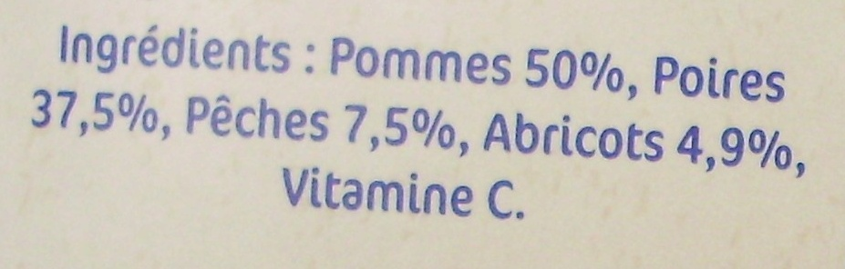 NaturNes Fruits du verger (4 Pots) - Ingrediënten