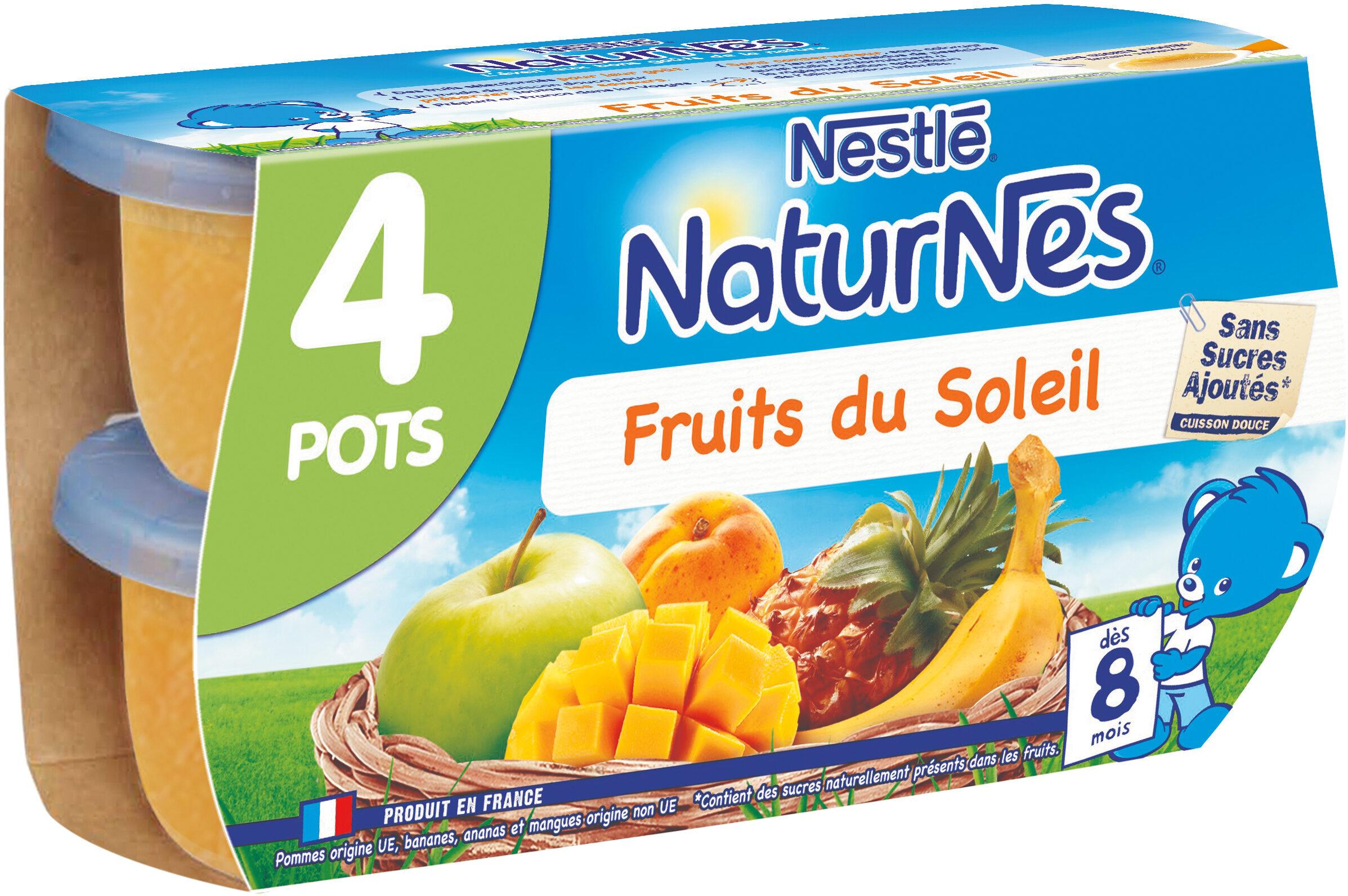 NESTLE NATURNES Compotes Bébé Fruits du soleil -4x130g -Dès 8 mois - Prodotto - fr