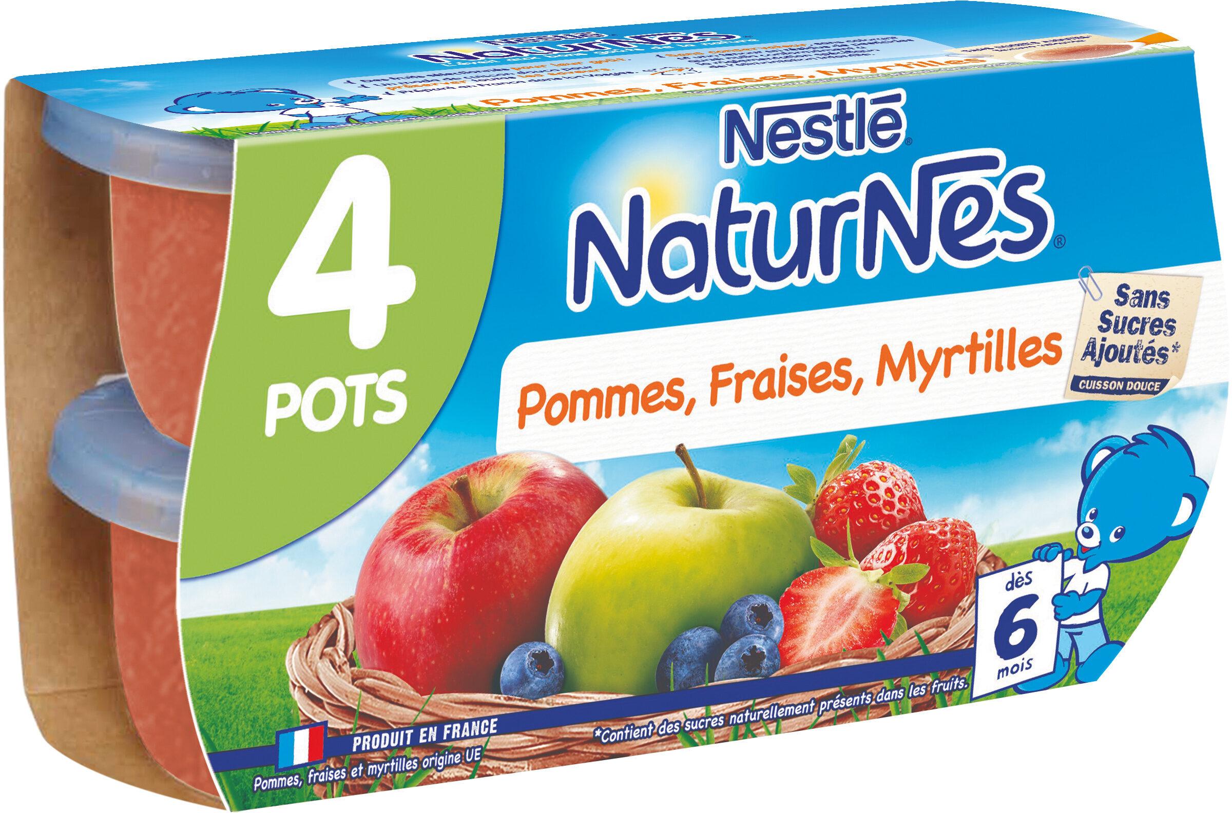 NESTLE NATURNES Compotes Bébé Pommes Fraises Myrtilles -4x130g -Dès 6 mois - Prodotto - fr