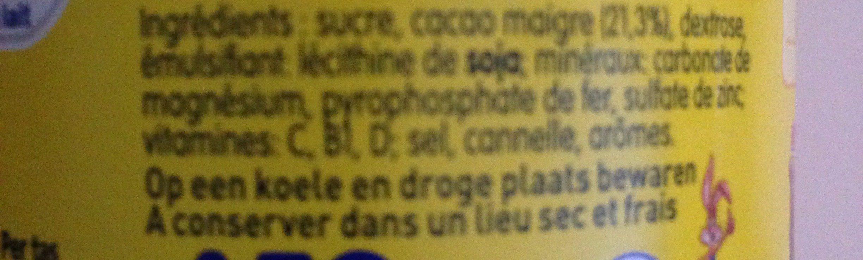 Nesquik - Ingrediënten - fr