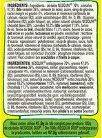 NESTLE NESQUIK Duo Céréales paquet de - Ingredients - fr