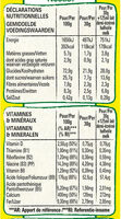 NESTLE NESQUIK Duo Céréales paquet de - Informations nutritionnelles - fr
