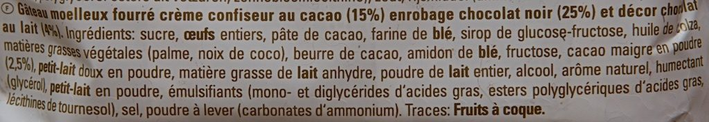 Yes Cacao - Ingredients - fr