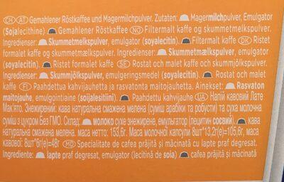 Latte Macchiato Skinny / Light - Ingredients