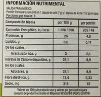 CAPPUCCINO SKINNY - Valori nutrizionali - es