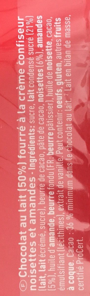 Caillei of switzerland LAIT FRIGOR - Ingredients