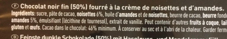 Cailler Of Switzerland Feinste Dunkle Schokolade - Ingredients