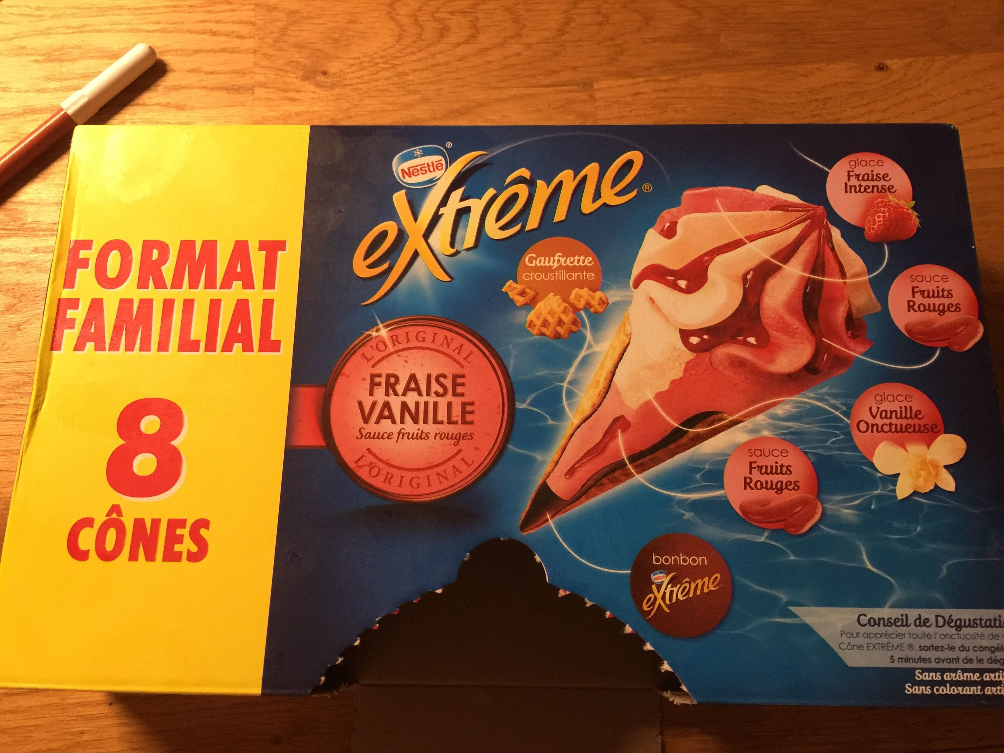Cônes Fraise Vanille - Product