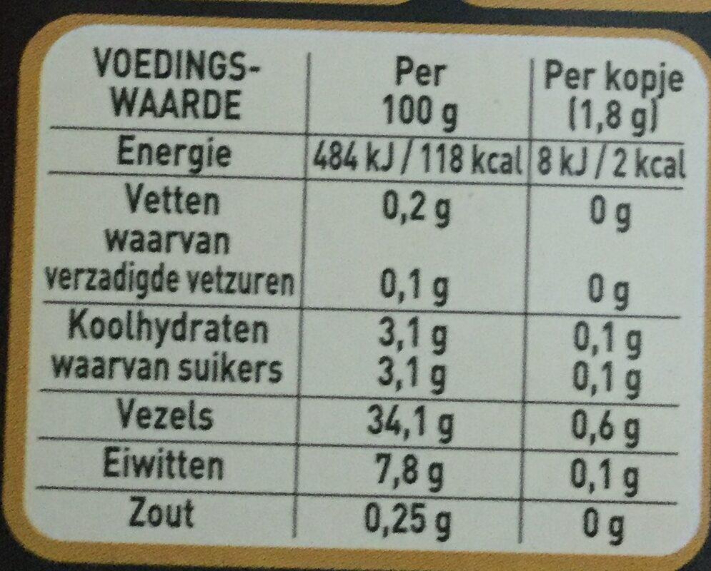 Gold - Voedingswaarden - nl
